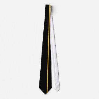黒の金ケシの薄い垂直線 ネクタイ