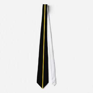 黒の金ゴールドによって集中させる薄い垂直線 オリジナルタイ