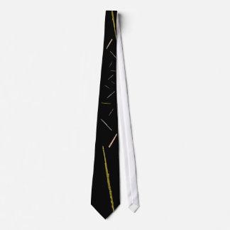 黒の金ゴールドのフルート ネクタイ