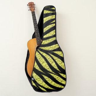 黒の金ゴールドの金属パターン ギターケース