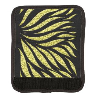 黒の金ゴールドの金属パターン ラゲッジ ハンドルラップ