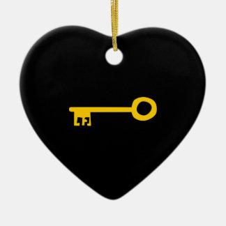 黒の金ゴールドの鍵。 カスタム セラミックオーナメント