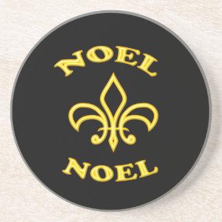 黒の金ゴールドの(紋章の)フラ・ダ・リ コースター