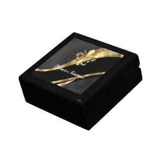 黒の金ゴールドfleur de lys ギフトボックス