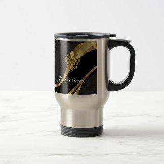 黒の金ゴールドfleur de lys トラベルマグ