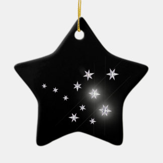 黒の銀製の星 セラミックオーナメント