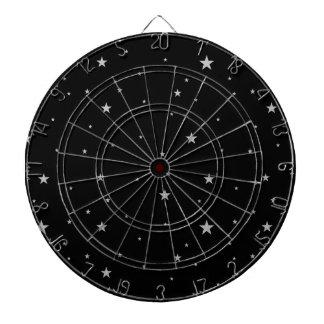 黒の銀製の星 ダーツボード