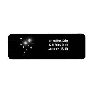 黒の銀製の星 ラベル