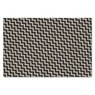 黒の銀製の金ゴールドのグリッターシェブロン 薄葉紙