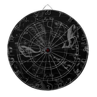 黒の魚類の星座Hevelius 1690年 ダーツボード