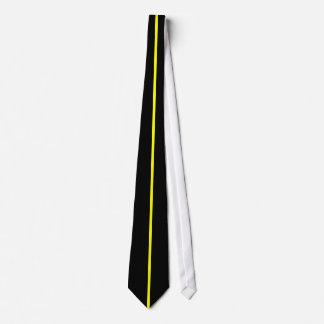 黒の黄色によって集中させる薄い垂直線 カスタムタイ