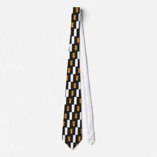 黒の黄色マツApple ネクタイ