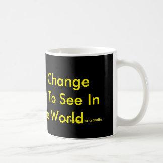 黒の黄色文字 コーヒーマグカップ