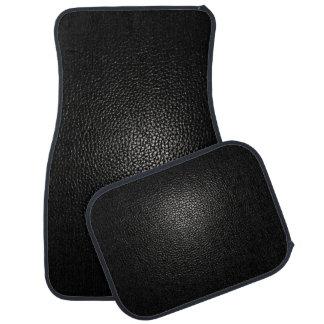 黒の黒い革 カーマット