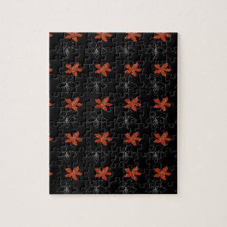 黒の2つの花 ジグソーパズル