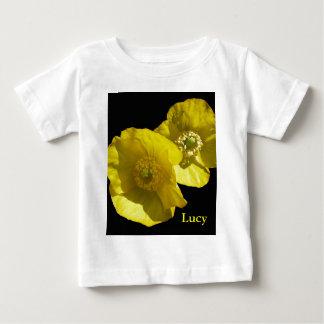 黒の© P Wherrell黄色いハナビシソウ ベビーTシャツ
