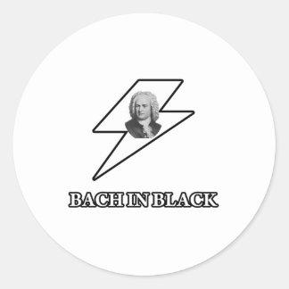 黒のBach 丸型シール