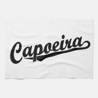 黒のCapoeira キッチンタオル