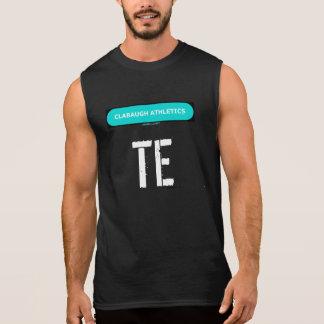 黒のClabaughの運動競技TE 袖なしシャツ