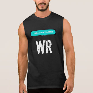 黒のClabaughの運動競技WR 袖なしシャツ