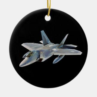 黒のF-22猛禽の戦闘機 セラミックオーナメント