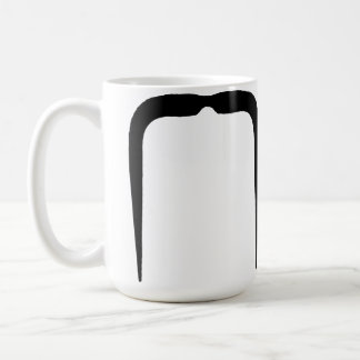 黒のFuの満州の髭 コーヒーマグカップ