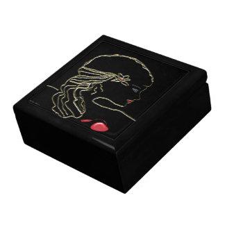 黒のgiftbox-の女の子 ギフトボックス