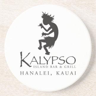 黒のKalypso Kaneのロゴ コースター