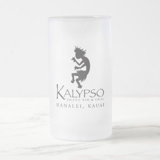 黒のKalypso Kaneのロゴ フロストグラスビールジョッキ