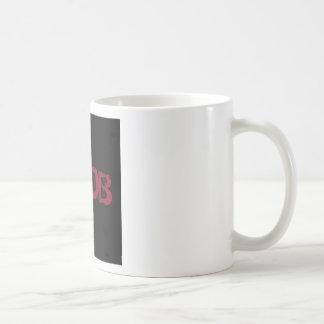 黒のNOOBの文字 コーヒーマグカップ