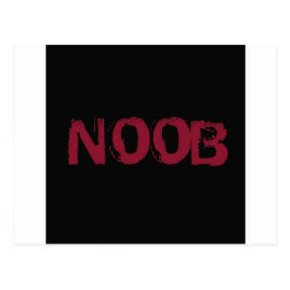 黒のNOOBの文字 ポストカード