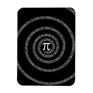 黒のPiのタイポグラフィのための螺線形 マグネット