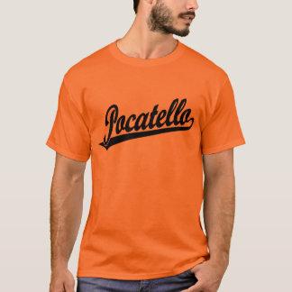 黒のPocatelloの原稿のロゴ Tシャツ