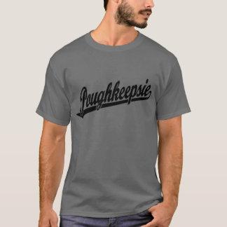 黒のPoughkeepsieの原稿のロゴ Tシャツ