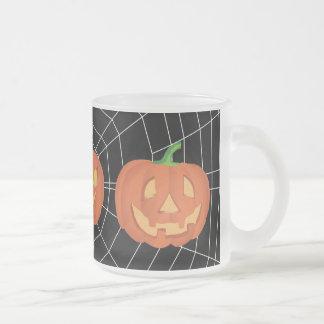 黒のspiderweb フロストグラスマグカップ