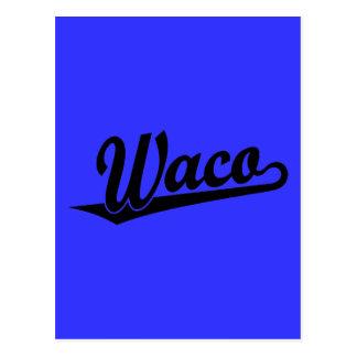 黒のWacoの原稿のロゴ ポストカード