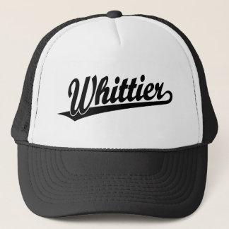 黒のWhittierの原稿のロゴ キャップ