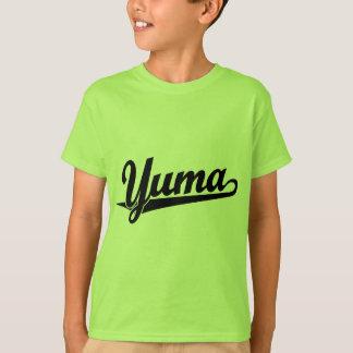 黒のYumaの原稿のロゴ Tシャツ