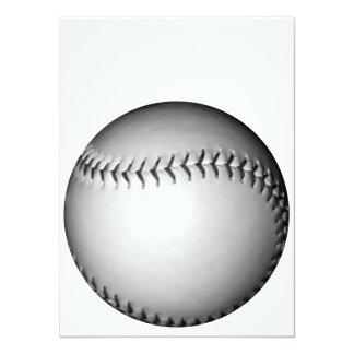 黒はソフトボール/野球をステッチします 14 X 19.1 インビテーションカード