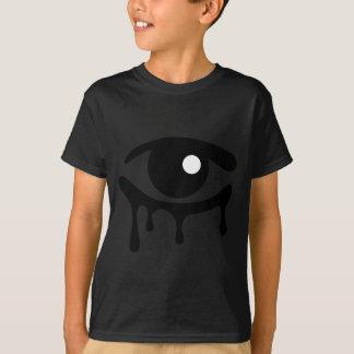 黒は子供の黒いTシャツを引き裂きます Tシャツ