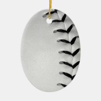 黒は野球かソフトボールをステッチします セラミックオーナメント