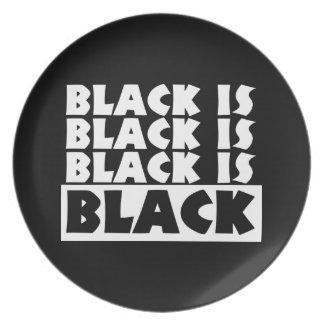 黒は黒いです プレート