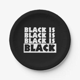 黒は黒いです ペーパープレート