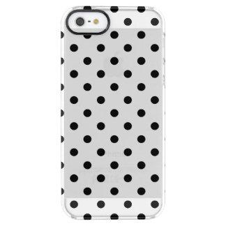 黒は|の珍しいiPhoneの場合に点を打ちます クリア iPhone SE/5/5sケース