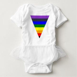 黒への色の三角形の円錐形の白の変化 ベビーボディスーツ