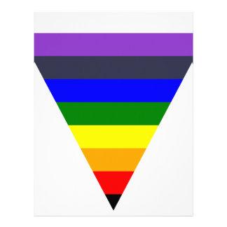 黒への色の三角形の円錐形の白の変化 レターヘッド