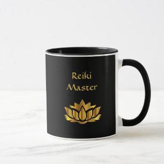 黒または金ゴールドの霊気のマスター マグカップ