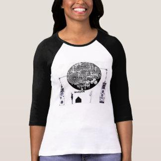 黒ウサギと白ウサギの機械的ジャムセッション Tシャツ