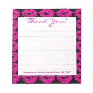 黒カスタムのピンクのキスはメモ帳感謝していしています ノートパッド