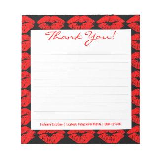 黒カスタムの赤いキスはメモ帳感謝していしています ノートパッド